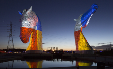 Home, launch of the Kelpies and the John Muir Way by UZ Arts featuring Groupe F