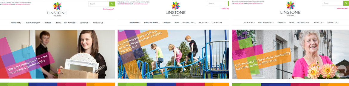 new website for linstone housing association