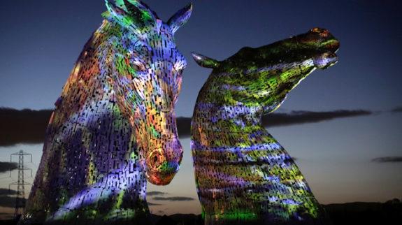 'Home': International launch of The Kelpies