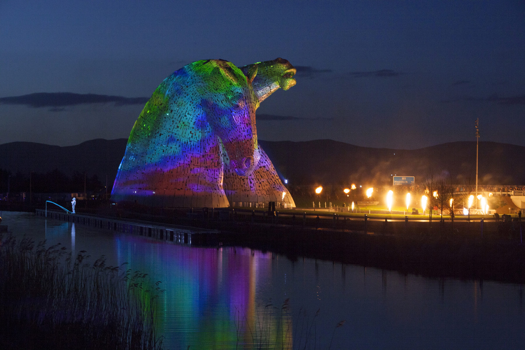 The Kelpies, light show by Groupe F | by McAteer Photograph