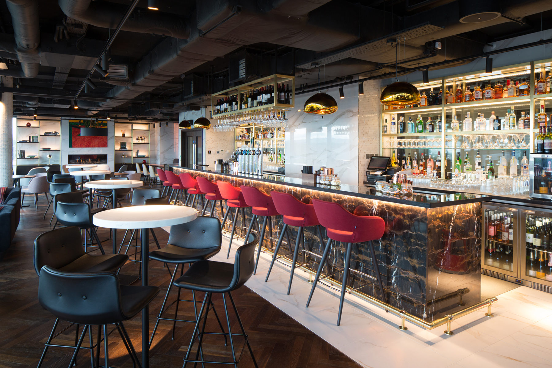 Stylish interior of the Red Sky Bar | by McAteer Photograph
