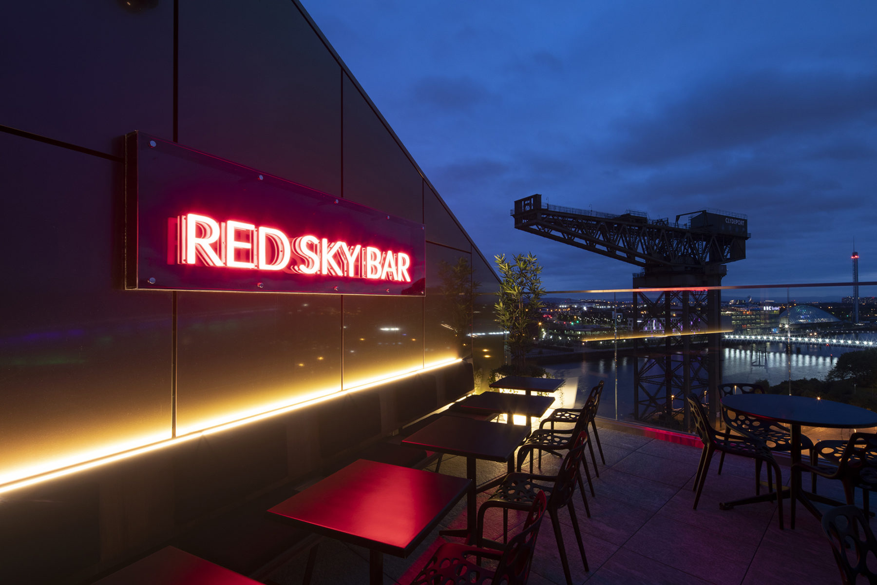 Red Sky Bar with a view of the Finniston Crane | by McAteer Photograph