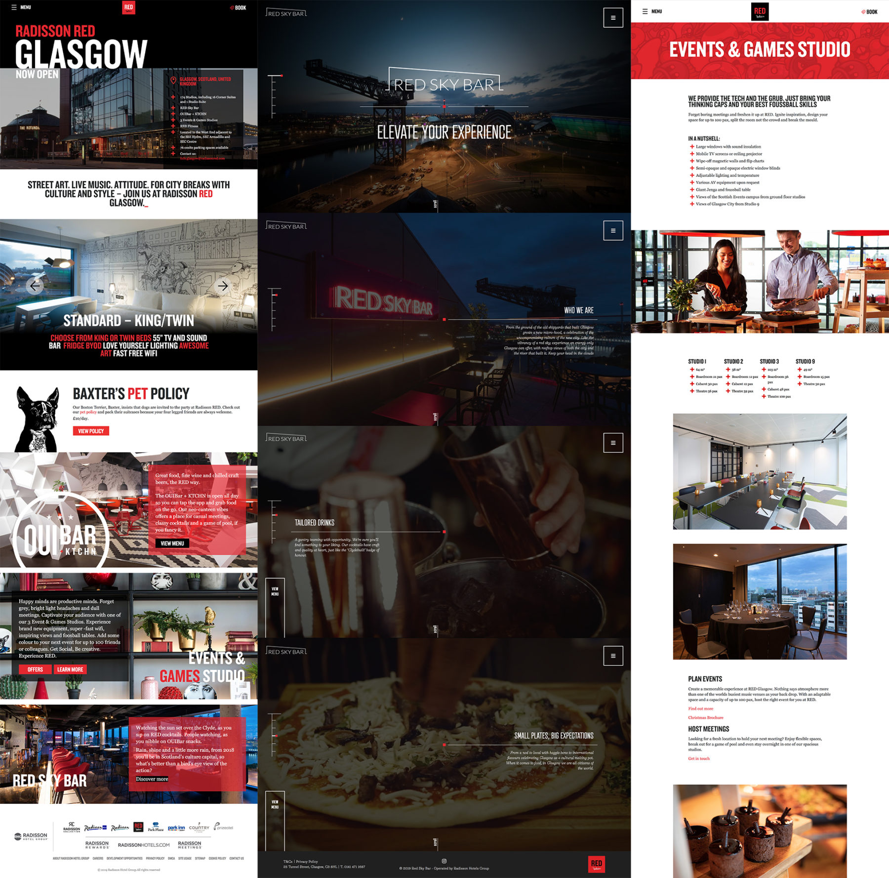 Website screen shot | Radisson Red
