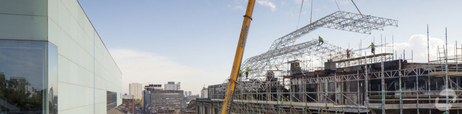 Temporary roof, GSA Mackintosh building | by McAteer Photograph