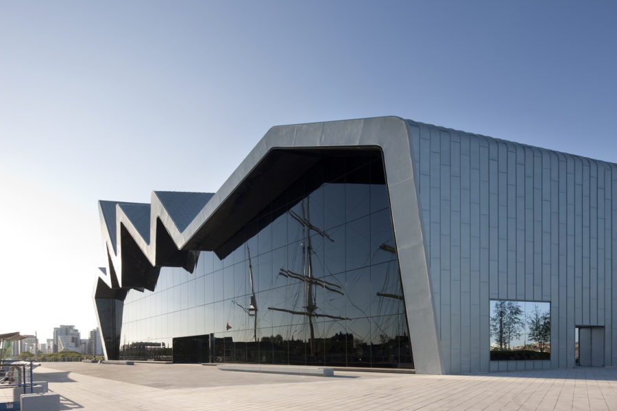 Southside of Riverside Museum reflecting the Tall Ship | by McAteer Photograph