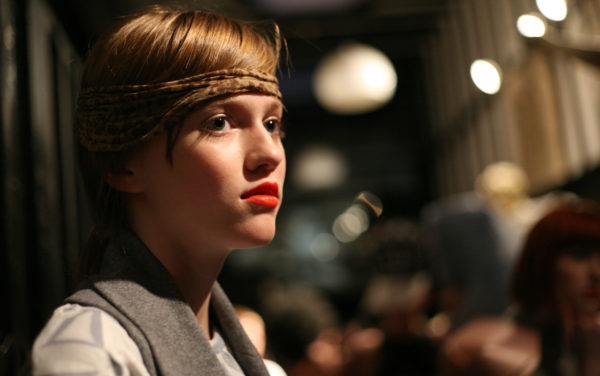 Portrait of model with red lipstick | Fashion Show, Backstage | by McAteer Photograph