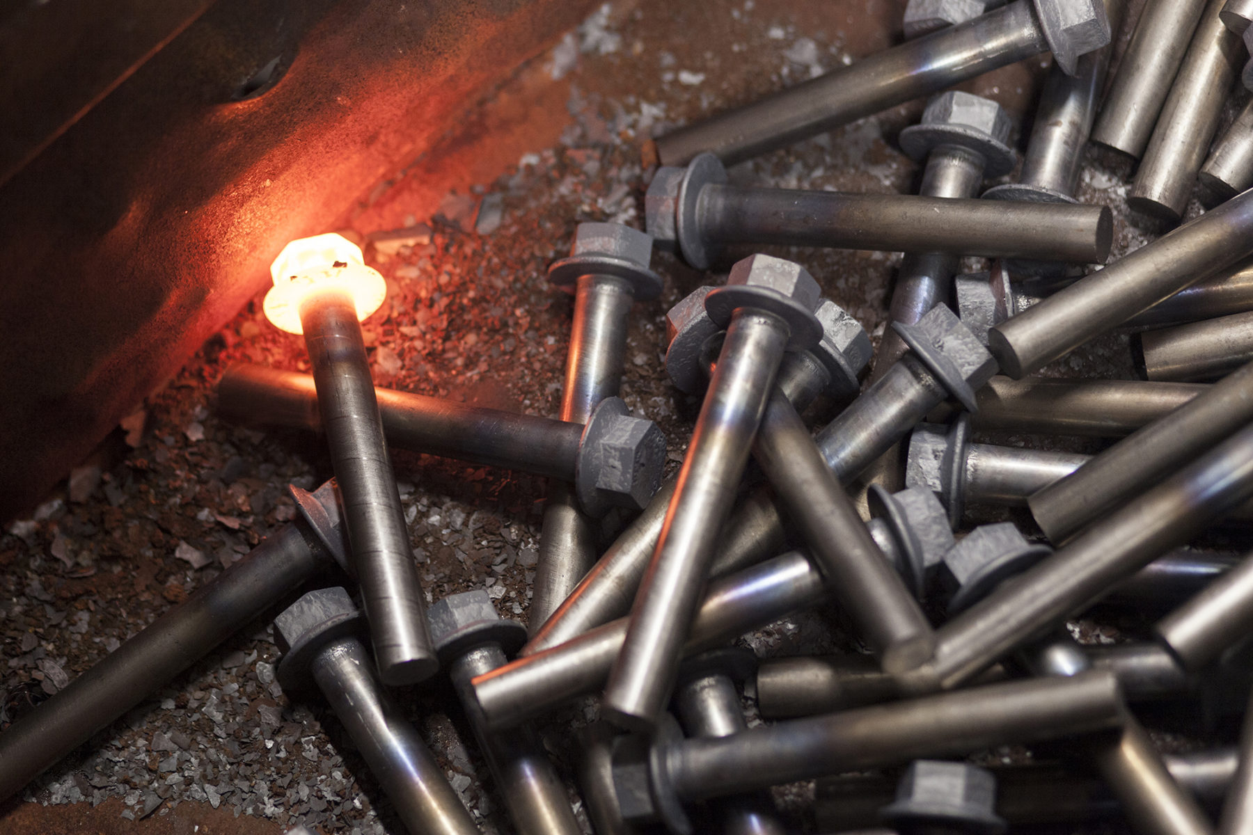 Bolt Manufacturing for Clyde Fasteners | image | by McAteer Photograph