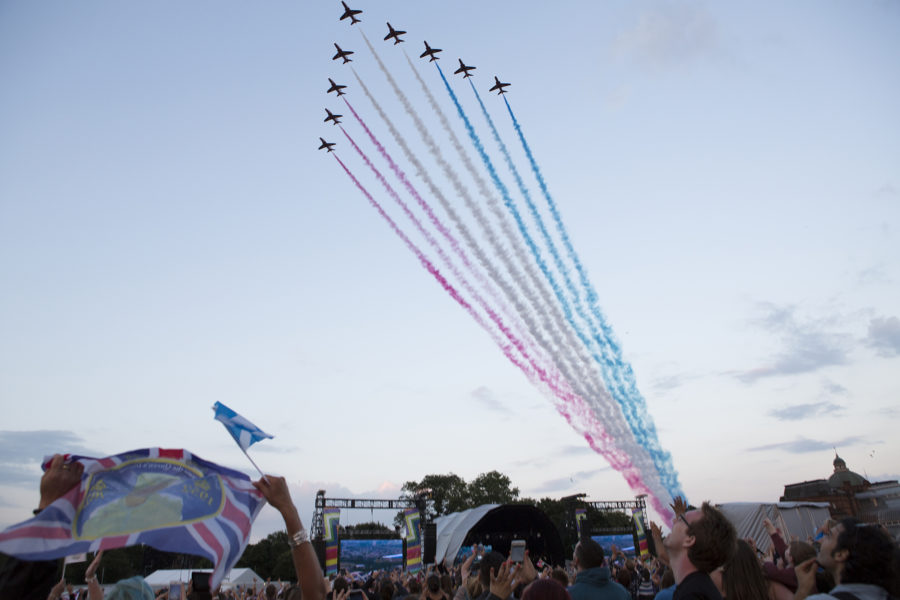 The RAF Red Arrows during the opening ceremony | by McAteer Photograph