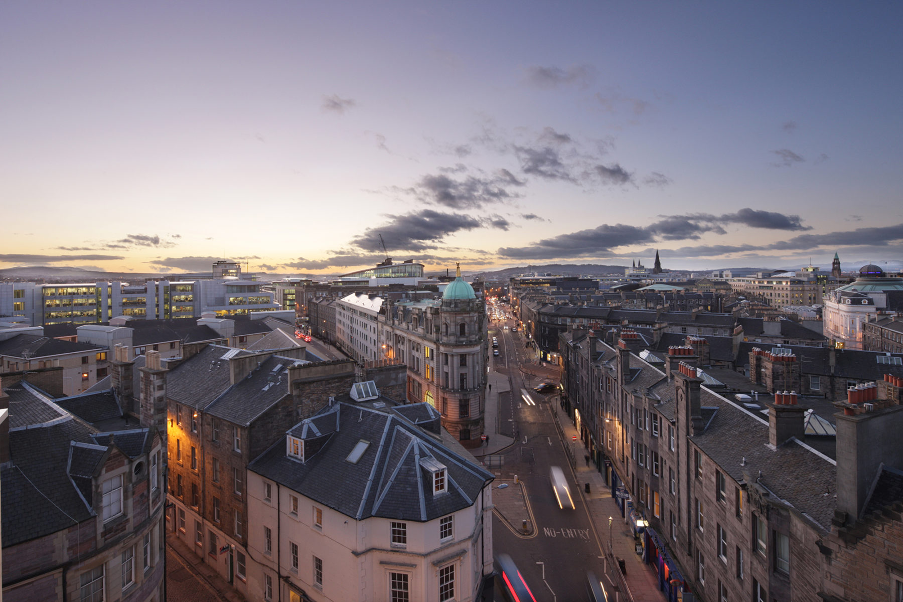 Edinburgh city scape, image by McAteer Photograph