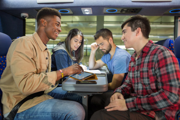 Students on a coach, Stagecoach, Megabus | by McAteer Photograph