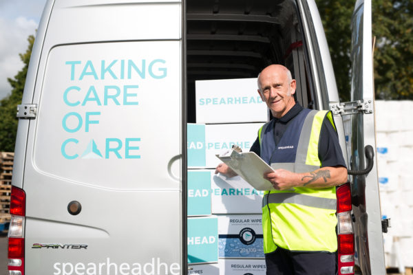 Spearhead Healthcare, Man working with deliveries | by McAteer Photograph