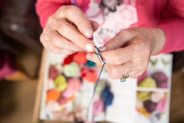 Spearhead Healthcare, woman's hand knitting | by McAteer Photograph