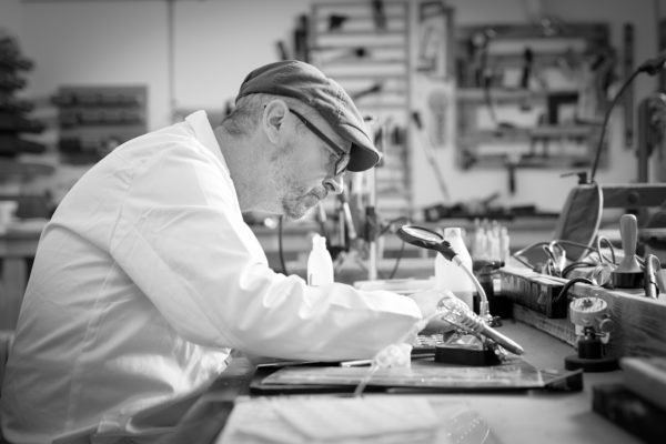 Man making wax seals, Wax Production, Oakbank | by McAteer Photograph