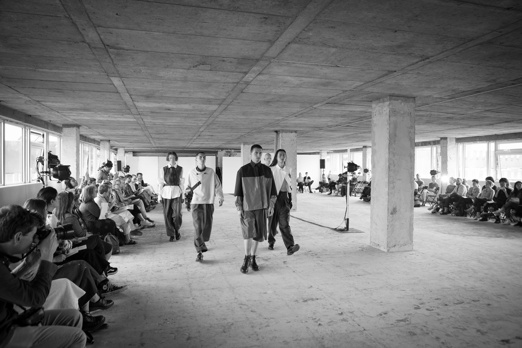 Black and white image | Fashion Show, Glasgow School of Art | by McAteer Photograph