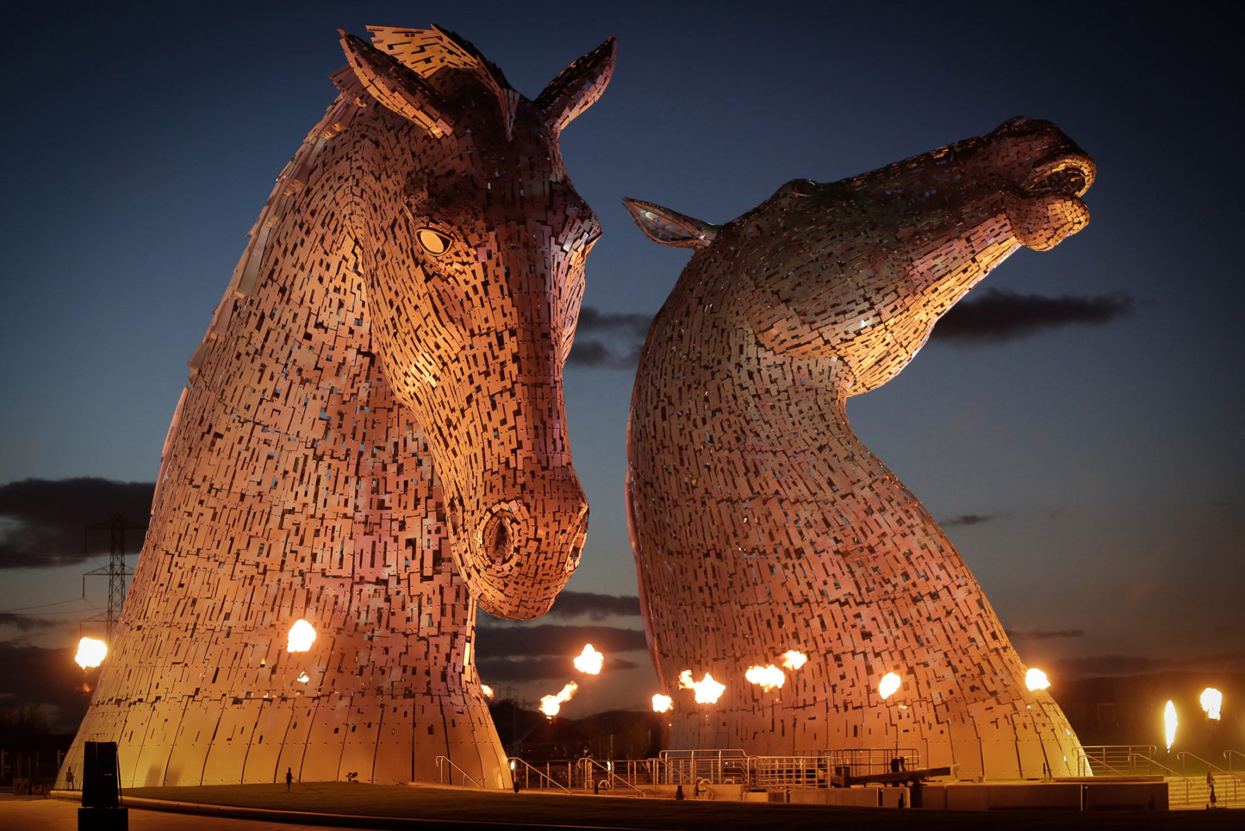 The Kelpies, light show | by McAteer Photograph
