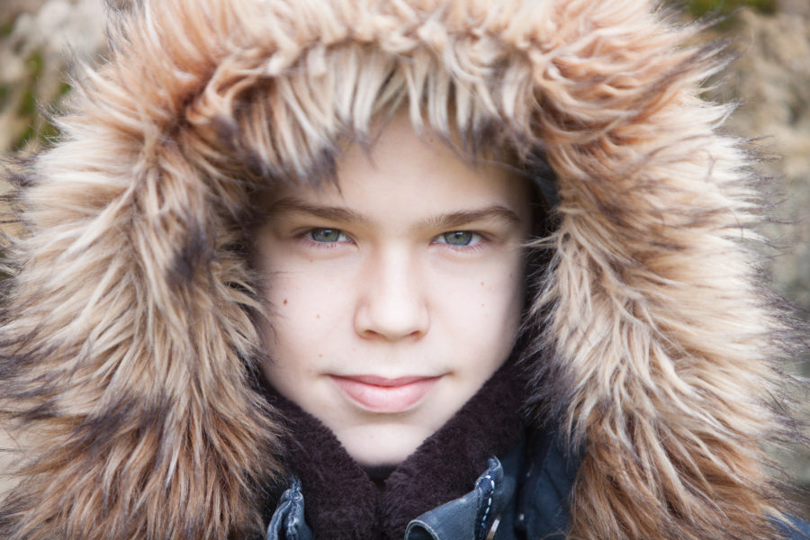 Family portrait, boy in fluffy jacket | by McAteer Photograph