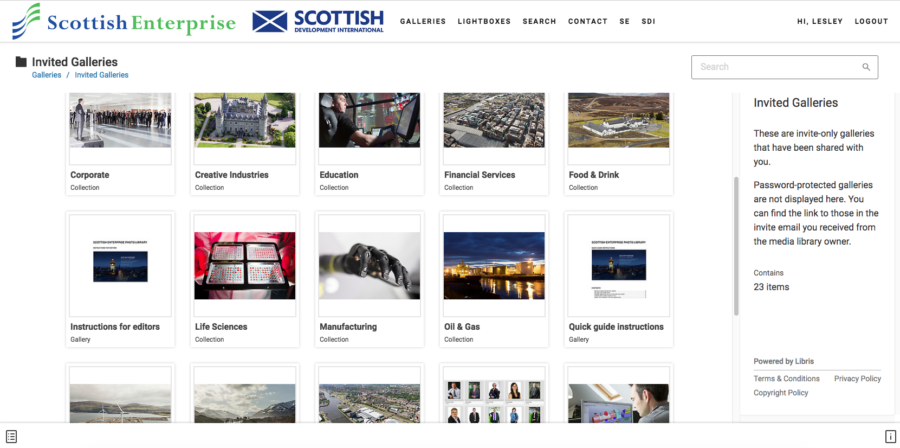 Scottish Enterprise website image library