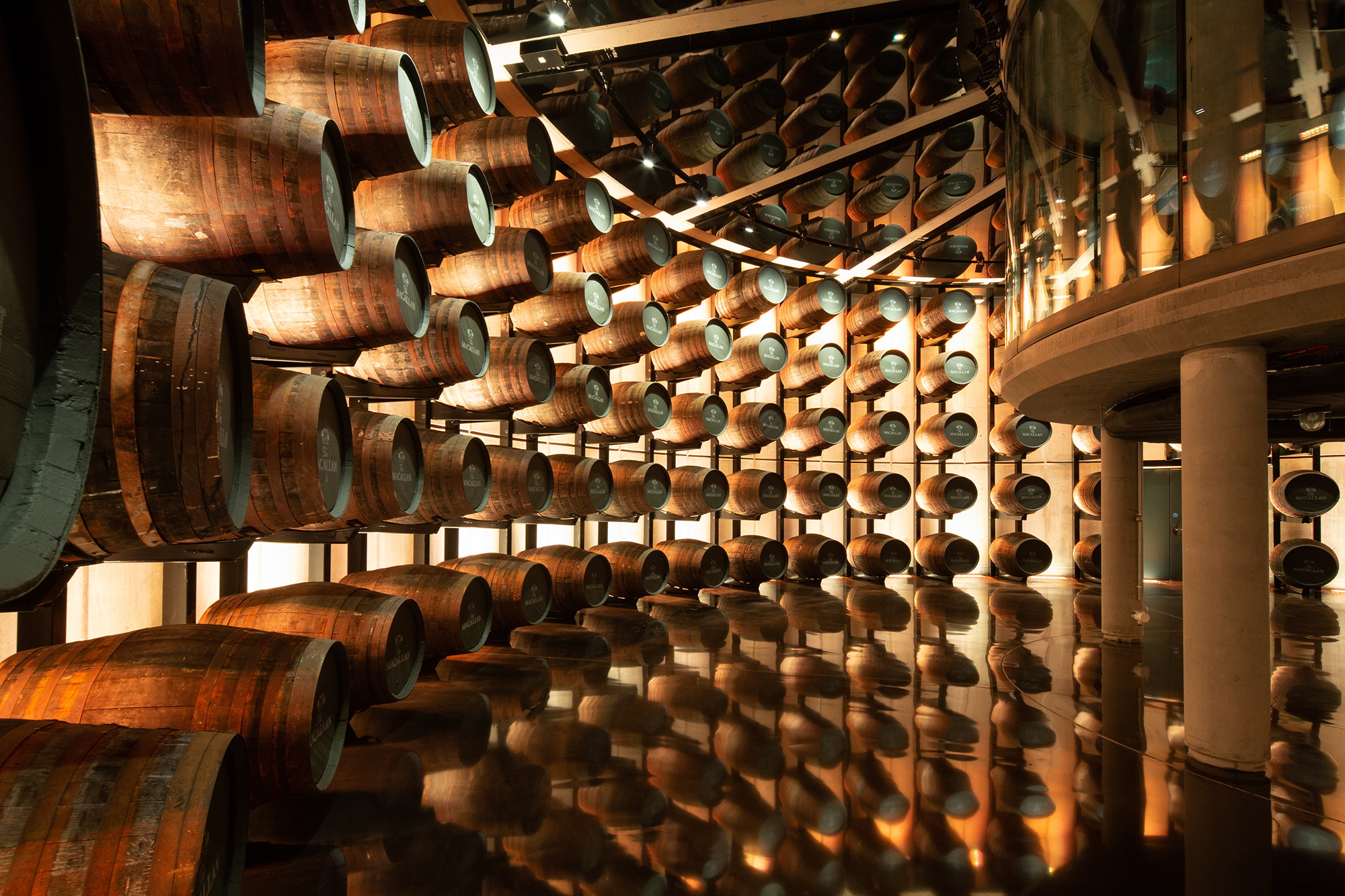 Whisky cask room