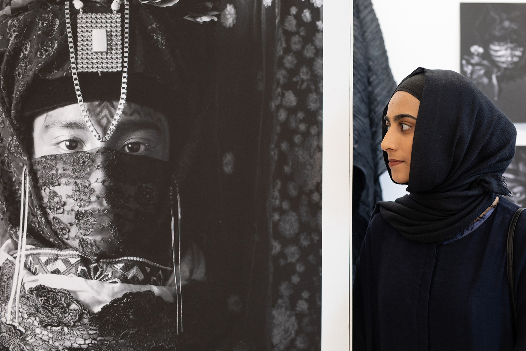 Noor-e-sehar Sajjad with her artwork, Glasgow School of Art graduate degree show, Scotland, 2018 | by McAteer Photograph
