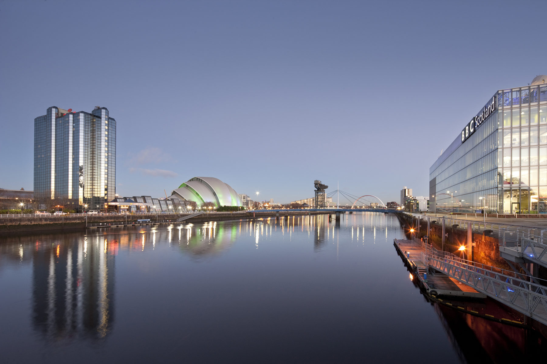 Bells Bridge, Pacific Quay and SECC | by McAteer Photograph