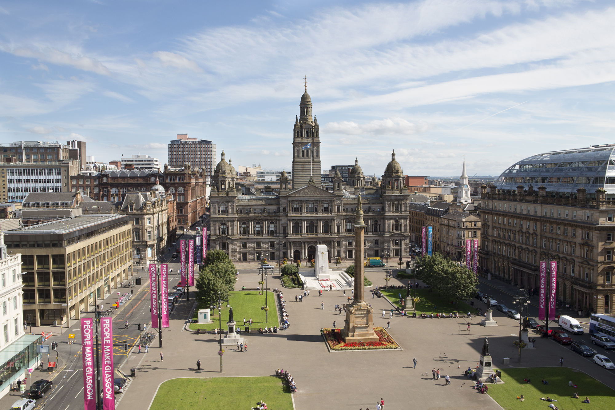 George Square from Merchant House, Glasgow | By McAteer Photograph