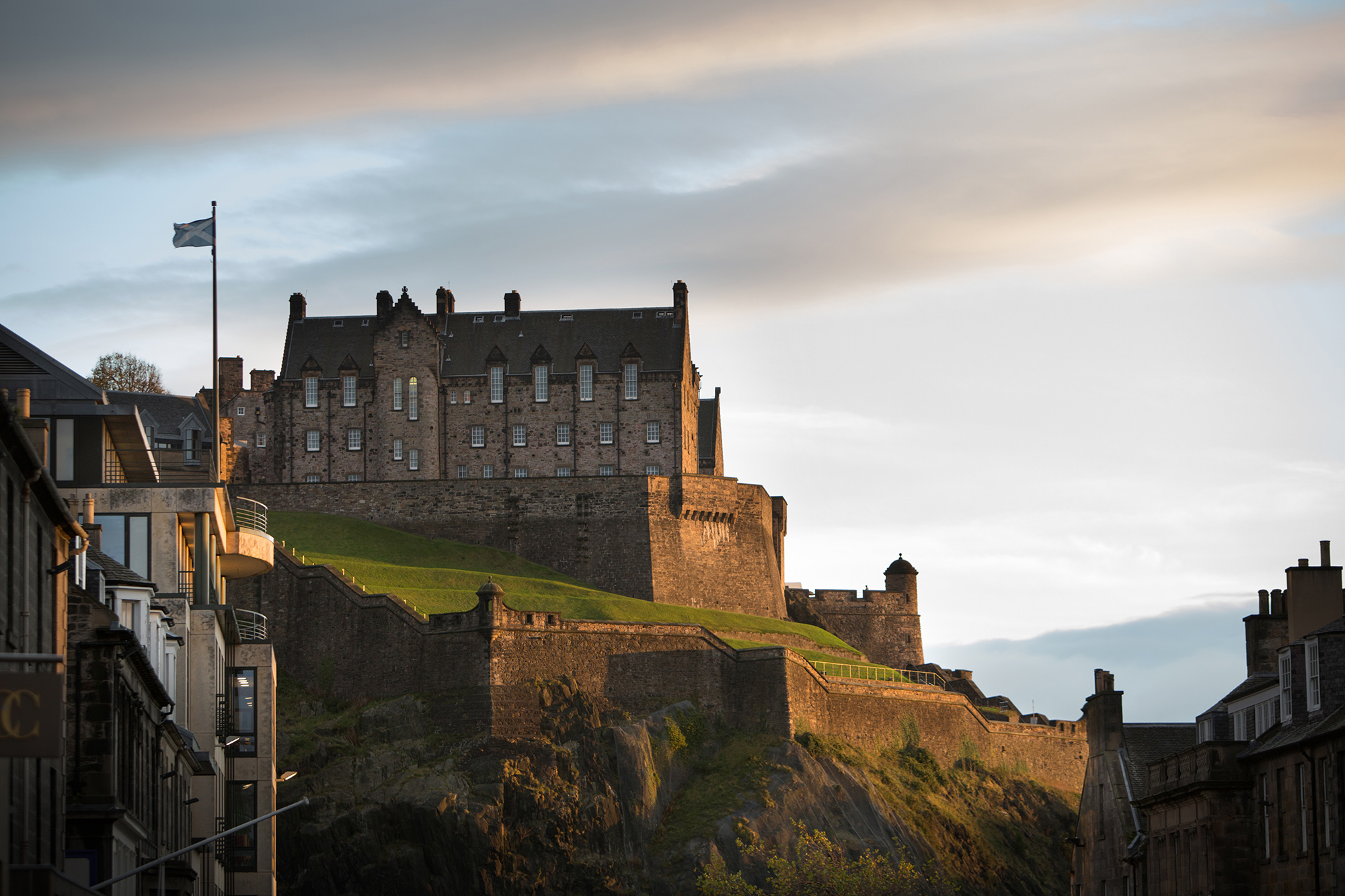 View towards Edinburgh Castle | By McAteer Photograph