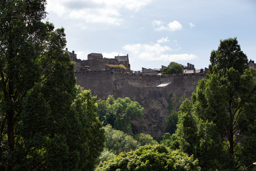 View towards Edinburgh Castle from 85 Princes Street | By McAteer Photograph
