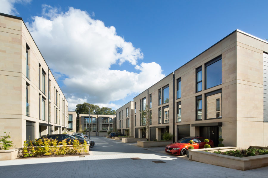 Woodcroft apartment and townhouse residential development, Edinburgh | By McAteer Photo