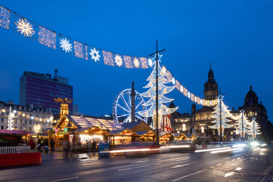 Christmas lights at George Square in Glasgow | by McAteer Photo