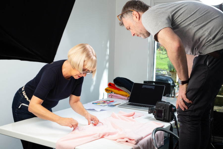 Laying out garments | By McAteer Photo