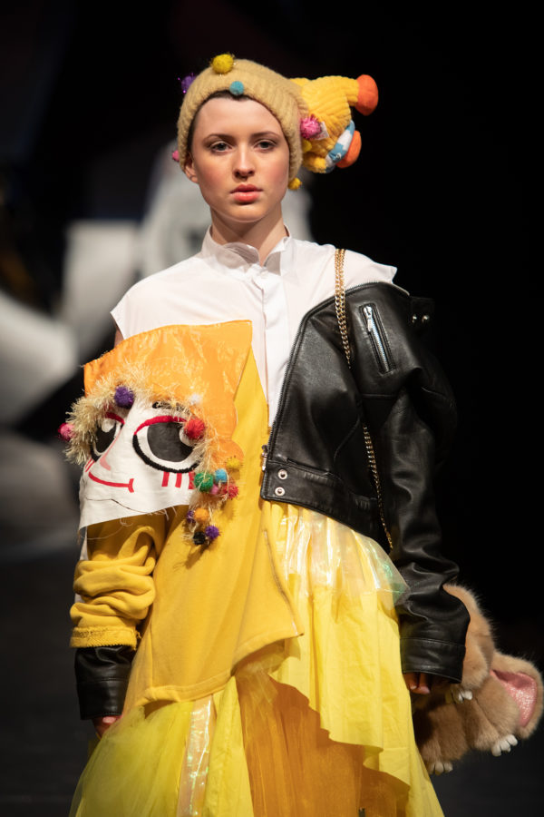 By Hermoine Lucine, Catwalk at the Glasgow School of Art's fashion show | Image by McAteer Photo