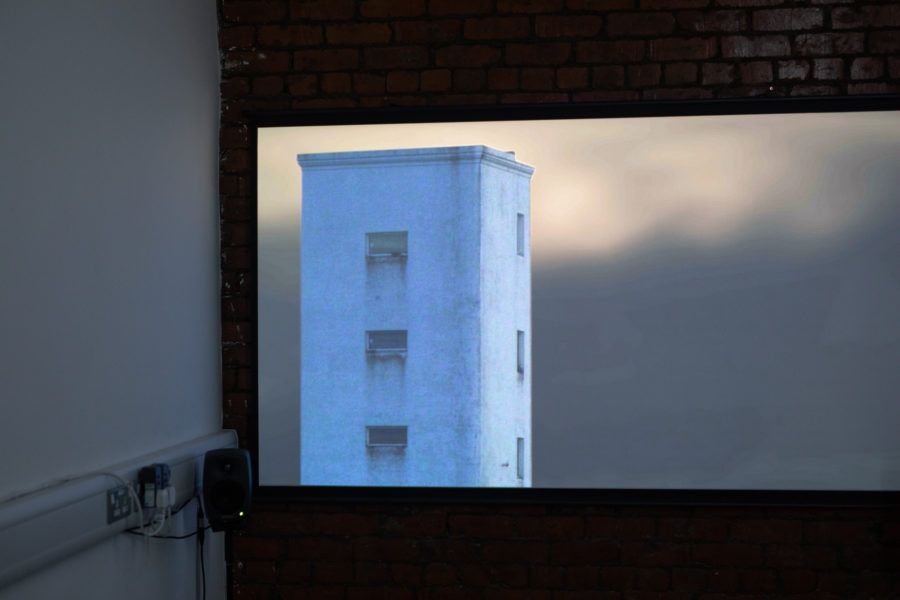 Finn Rabbit Dove | Video projection on screen | Image by McAteer Photo