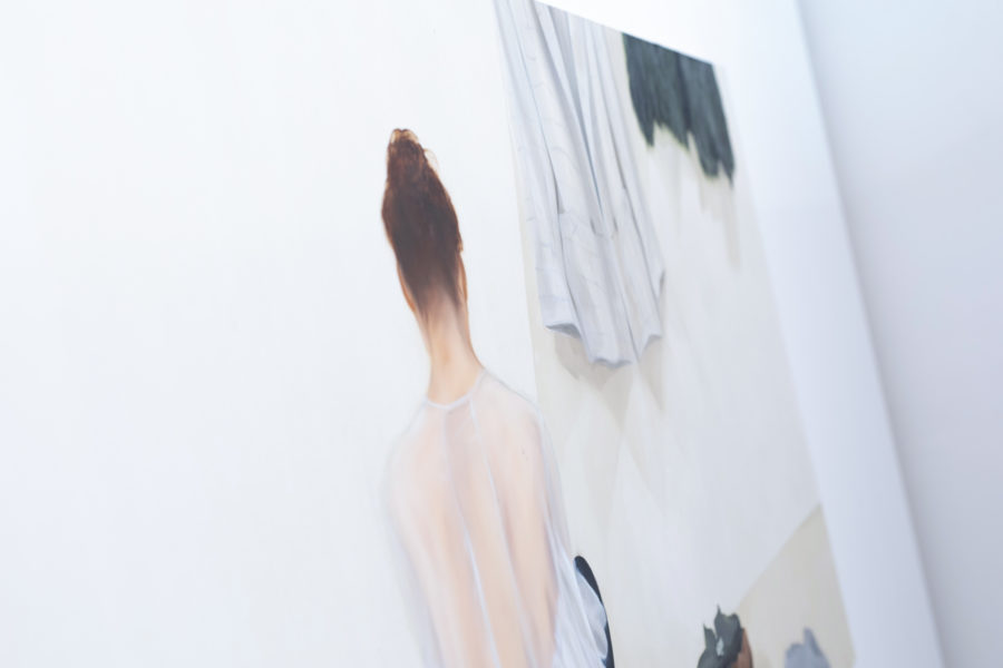 Holly Ainslie | Painting of a woman's back photographed at an angle | Photo by McAteer Photo