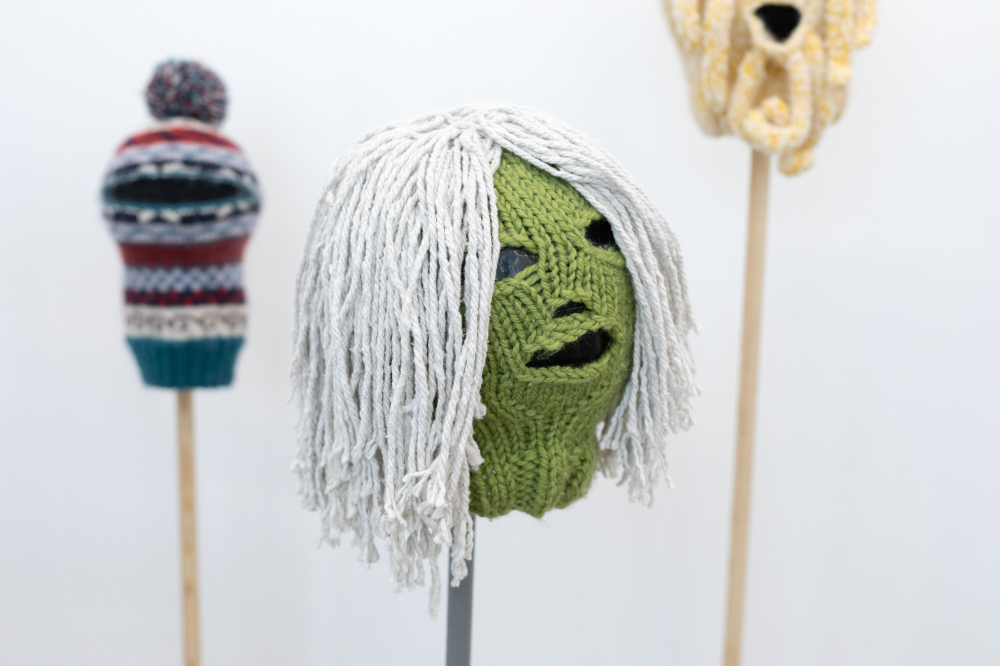 Philipa Carruthers | Knitted masks | Image by McAteer Photo