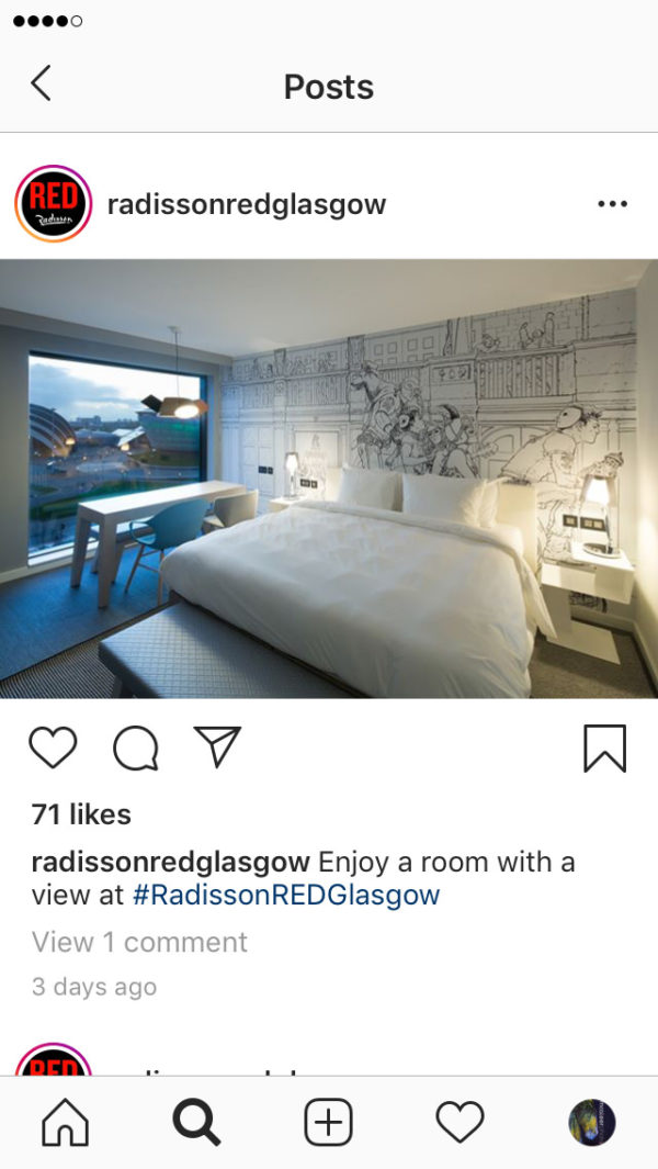 Radisson Red on Instagram with an image by McAteer Photo