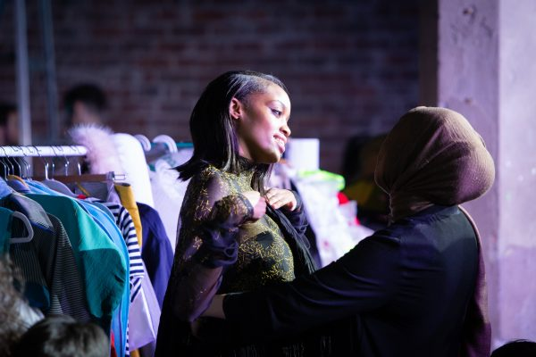 backstage at Glasgow School of Art fashion show | Image by McAteer Photo